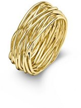 Casa Jewelry Ring Wikkel 54 - Goud Verguld