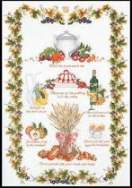 Thea Gouverneur Borduurpakket 2027 Merklap Culinair - Linnen stof