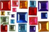 Strasstenen, afm 4-10 mm, kleuren assorti, Mozaiek, 1300 assorti