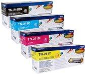 Brother TN-241 Rainbowkit (CMYK) TN241BK, TN241C, TN241M, TN241Y