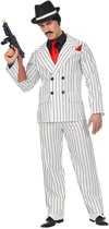 Maffia Kostuum | Omgekeerde Krijtstreep Gangster | Man | XL | Carnaval kostuum | Verkleedkleding