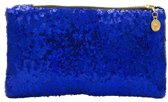 Clutch met pailletten Blauw