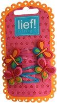 Vlinder haarspeldjes Roze/Blauw - Lief Lifestyle