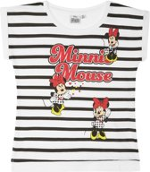 Disney Minnie T-shirt met korte mouw - wit - Maat 128