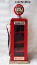 Wandkast vitrinekast gaspomp benzinepomp vintage Route 66