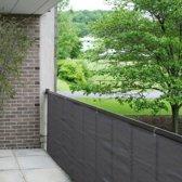 Balkondoek - Balkonzeil - Balkonscherm - 500 x 90 | Grijs