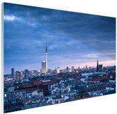 Panorama Prenzlauer Berg Berlijn Glas 180x120 cm - Foto print op Glas (Plexiglas wanddecoratie) XXL / Groot formaat!