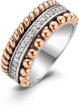 TI SENTO Milano Ring 1836ZR - Maat 54 (17,25 mm) - Gerhodineerd Sterling Zilver
