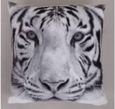 Sierkussen Tijger Print - 40 x 40 cm - heerlijk zacht fluweel - Kussen met ritssluiting incl. polyester vulling - tijgerprint