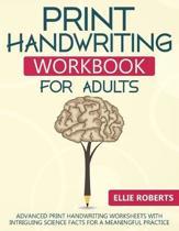 Print Handwriting Workbook for Adults