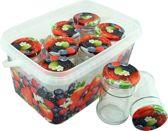 Confituur pot jampot inmaakpot in emmer - 315 ml - 7 stuks