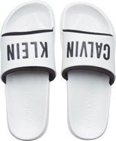 Calvin Klein - Dames Slide Badslippers Wit Zwart - 39-40