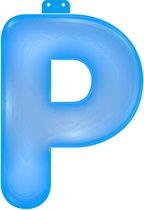 Opblaas letter P blauw