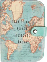 Paspoorthoesje met wereldkaart