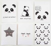 Fabs World Postcard set Panda
