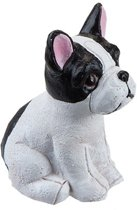 TOM beeldje hond 5 cm wit/zwart