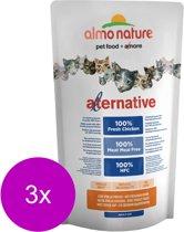 Almo Nature Hfc Cat Brokjes Alternative 750 g - Kattenvoer - 3 x Kip&Rijst
