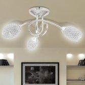 vidaXL - Plafondlamp - 4 Lichts - Met witte kristallen