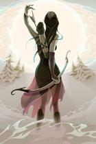 Elven Maiden Archer Blank Book