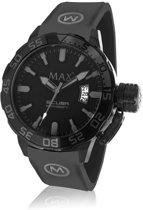 Max Scuba 5 MAX695 Horloge - Siliconen band - Ø 44 mm - Zwart