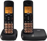 Fysic FX-5520 Big Button Dect Twinset | Knipperende display- en toetsverlichting bij inkomend gesprek | Zwart