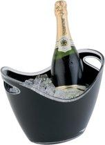 Wijn- en/of champagnekoeler - Zwart - 27x20xh21 cm