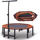 RS Sports Opvouwbare Fitness Trampoline l oranje zwart