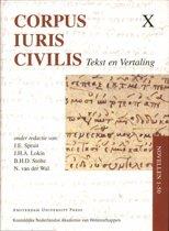 Corpus Iuris Civilis X - Novellen 1-50