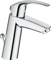 GROHE Eurosmart New Wastafelkraan - Medium uitloop - Met trek-waste - Chroom