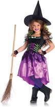 Spiderweb Witch kinder kostuum multicolours - Kostuum Party Halloween - L = 134-140 - Leg Avenue