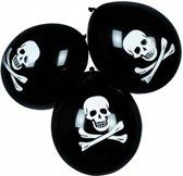 Piraten Ballonnen Doodshoofd 25cm 6 stuks