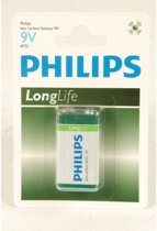 Phillips long life batterij 9 volt