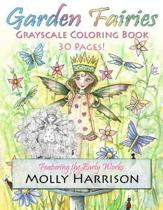 Garden Fairies Grayscale Coloring Book
