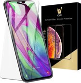 iCall - Samsung Galaxy A40 Screenprotector - Tempered Glass Gehard Glas - Case Friendly