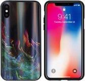 BackCover Aurora Glass voor Apple iPhone Xs Max Groen