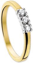The Jewelry Collection Ring Diamant 0.15 Ct. - Bicolor Goud