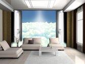 Fotobehang Wolken | Blauw | 152,5x104cm