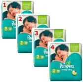 Pampers Baby-Dry - Maat 3 (Midi) 5-9 kg - Grootverpakking 136 Stuks (4x34) - Luiers