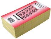 19x Garderobeblokken nummers van 501 t.e.m. 1.000, geel
