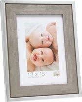 Deknudt Frames Fotokader hout, grijs met zilverrand