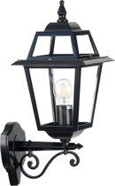Buiten wandlamp 230v - Venezia - Zwart