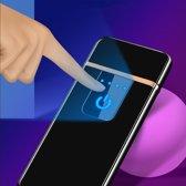 USB Elektrische Aansteker met Touchscherm - Vlamloze Aansteker - Geen Olie of Gas - Milieuvriendelijk - Bestand tegen de wind - Makkelijk Oplaadbaar aan je Laptop of PC  - Ideaal Cadeau voor Rokende Vrienden - Zwarte Kleur