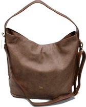 DAVID JONES Omhang Hand & Schoudertas Trendy Fashion Tas Bruin