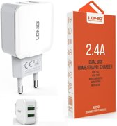 LDNIO A2202 oplader met 1 laadsnoer Micro USB Kabel geschikt voor o.a Huawei Mate 7 8 P Smart plus