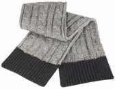 Grijze sjaal grof gebreid voor dames