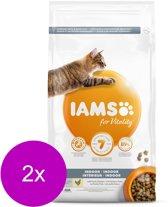 Iams Cat Adult Indoor - Kattenvoer - 2 x Kip 3 kg