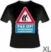 T-shirt - Pas op, hangouderen - XL
