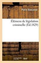 �l�mens de L�gislation Criminelle