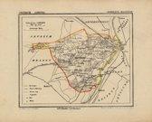 Historische kaart, plattegrond van gemeente Maasbree in Limburg uit 1867 door Kuyper van Kaartcadeau.com