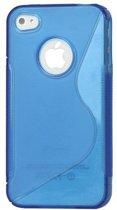 Zacht plastic backcase iphone 4/4s blauw